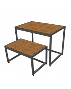 Nesting Table 1200 Charcoal and Timber