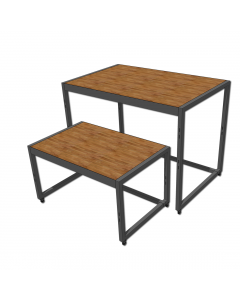 Nesting Table 900 Charcoal and Timber